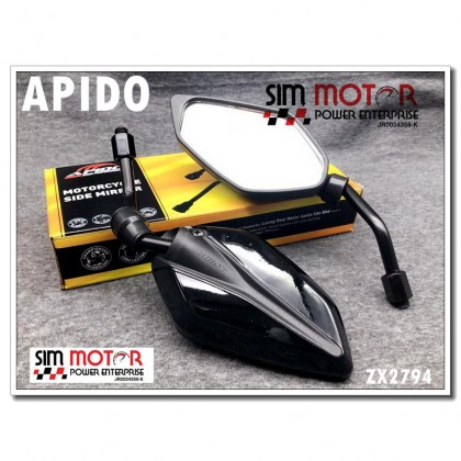[CARBON] Apido Side Mirror Motorcycle / Sisi Cermin Motor  YAMAHA HONDA BIKE all can use vf3i xmax nvx krisS RS15 ex5